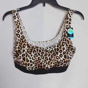 Victoria's Secret Pink Leopard Sports Bra NWT Sz L